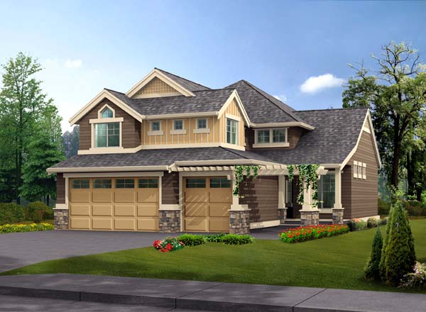 Craftsman Traditional House Plan 87441 Elevation