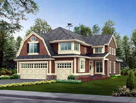 Farmhouse House Plan 87442 with 4 Beds, 3 Baths, 3 Car Garage Elevation