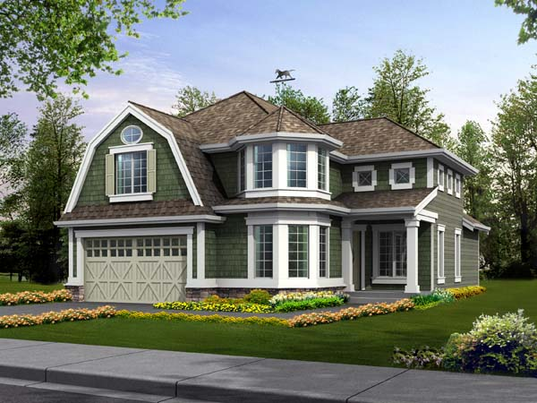 Farmhouse House Plan 87443 with 3 Beds, 3 Baths, 3 Car Garage Elevation