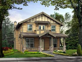 Craftsman , Bungalow House Plan 87449 with 3 Beds, 3 Baths, 3 Car Garage Elevation
