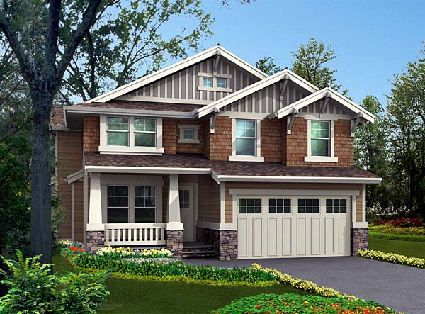 Bungalow Craftsman House Plan 87451 Elevation