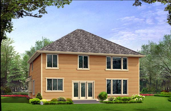 Traditional House Plan 87453 Rear Elevation