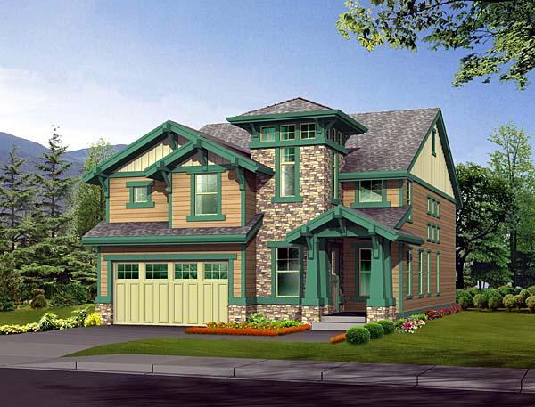 Bungalow Craftsman House Plan 87454 Elevation