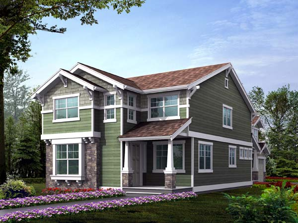 Country Craftsman House Plan 87461 Elevation