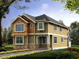 Country Craftsman House Plan 87462 Elevation