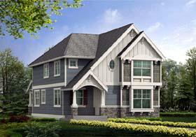 Craftsman , Tudor House Plan 87463 with 4 Beds, 3 Baths, 2 Car Garage Elevation