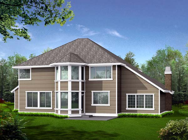 Country Craftsman House Plan 87466 Rear Elevation