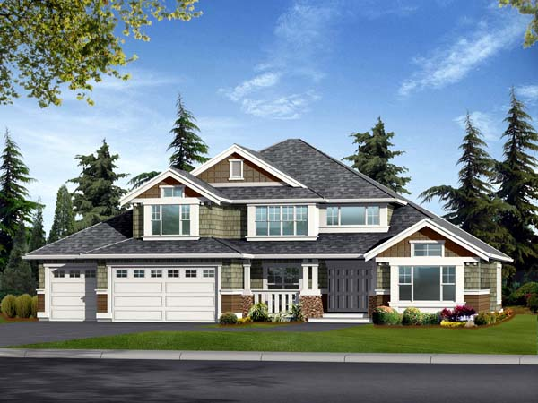Country Craftsman House Plan 87468 Elevation