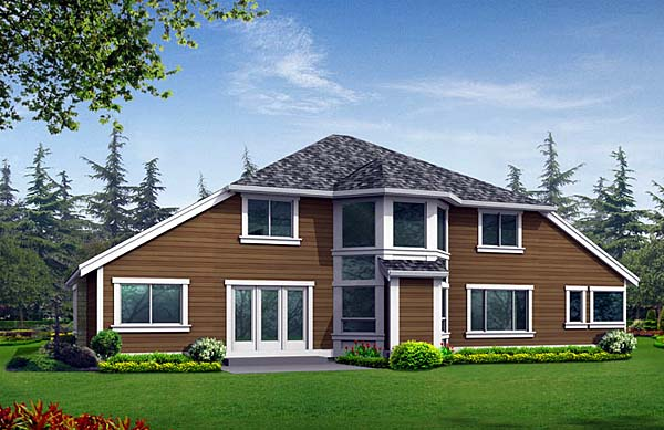 Country Craftsman House Plan 87468 Rear Elevation