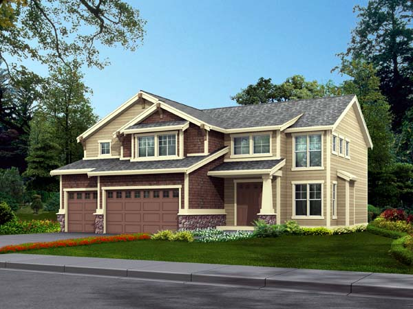Country Craftsman House Plan 87470 Elevation