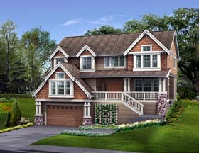 Craftsman , Country House Plan 87474 with 4 Beds, 4 Baths, 2 Car Garage Elevation