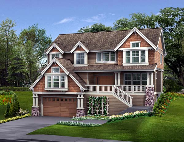 Country Craftsman House Plan 87474 Elevation