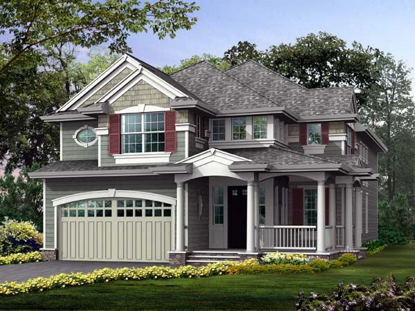 Country Craftsman House Plan 87478 Elevation