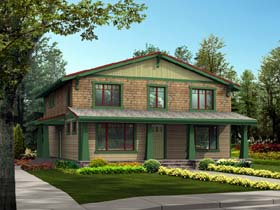 Country Craftsman House Plan 87479 Elevation