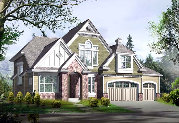 Country Tudor House Plan 87484 Elevation