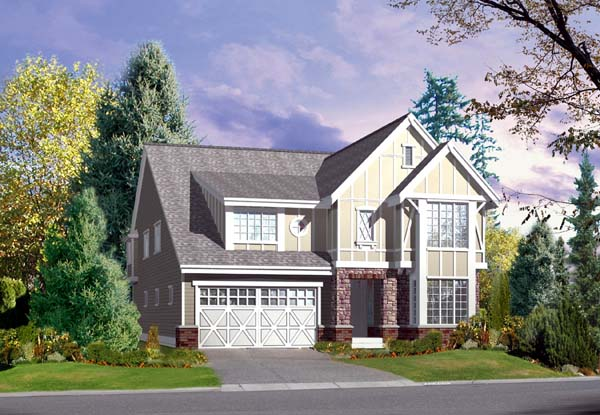 Traditional Elevation of Plan 87488