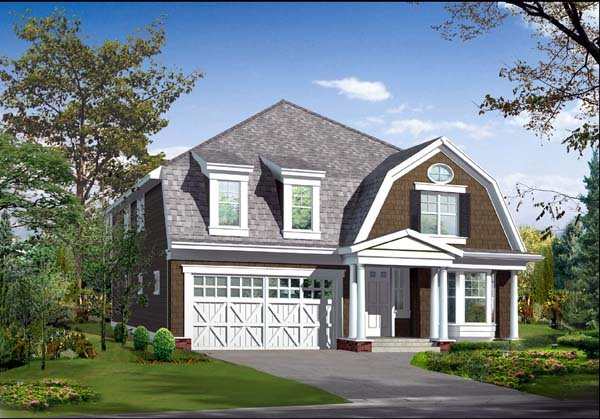 Colonial House Plan 87489 Elevation