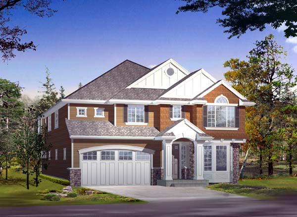 Colonial House Plan 87491 Elevation