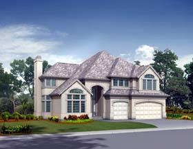 European House Plan 87494 Elevation