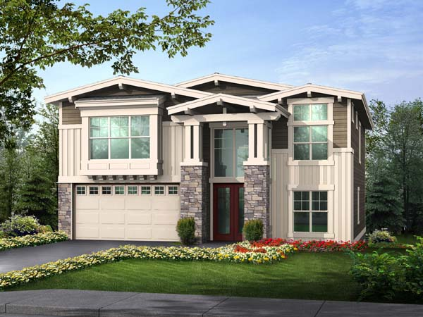 Craftsman House Plan 87495 Elevation