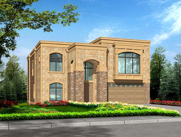 Contemporary, Craftsman, Traditional House Plan 87496 with 4 Beds, 3 Baths, 3 Car Garage Elevation