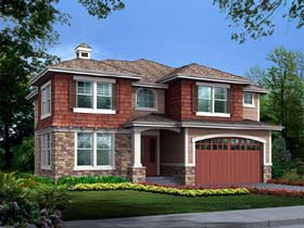House Plan 87499 | Craftsman Southwest Style Plan with 3438 Sq Ft, 4 Bedrooms, 4 Bathrooms, 2 Car Garage Elevation