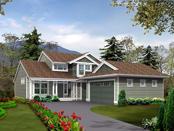 Traditional House Plan 87505 with 3 Beds, 3 Baths, 3 Car Garage Front Elevation