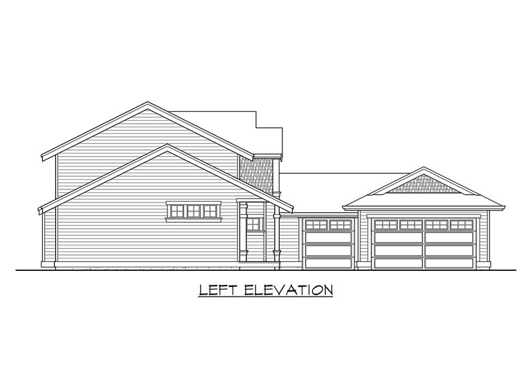 Traditional House Plan 87505 with 3 Beds, 3 Baths, 3 Car Garage Picture 1