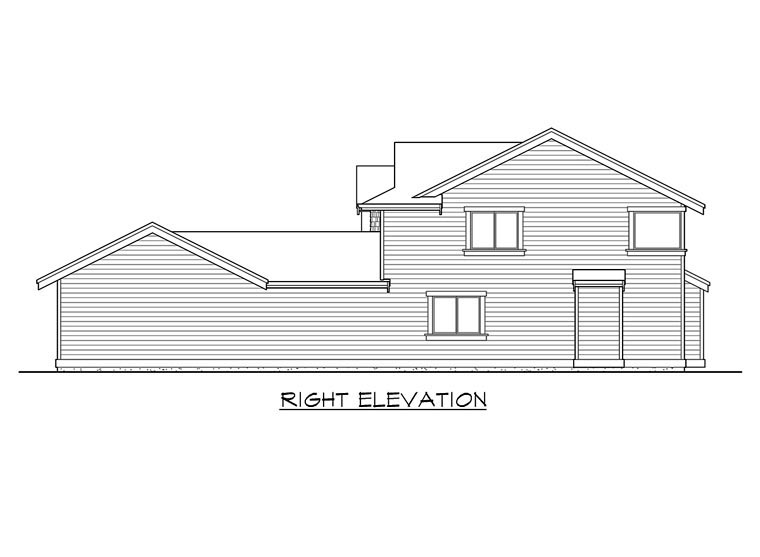 Traditional House Plan 87505 with 3 Beds, 3 Baths, 3 Car Garage Picture 2