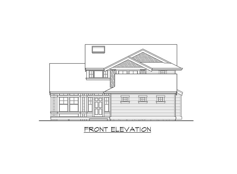 Traditional House Plan 87505 with 3 Beds, 3 Baths, 3 Car Garage Picture 3