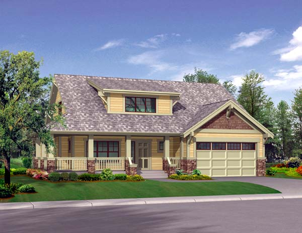 Bungalow, Craftsman House Plan 87508 with 3 Beds, 3 Baths, 2 Car Garage Elevation