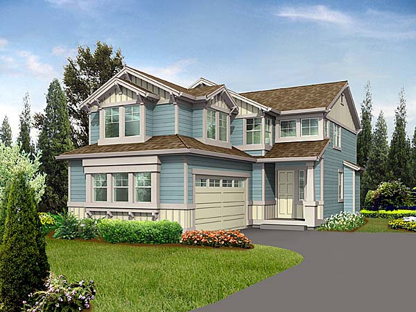 Craftsman , Elevation of Plan 87510