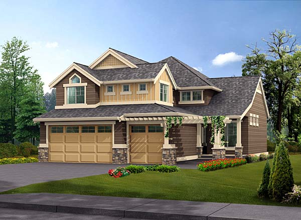 Craftsman House Plan 87513 Elevation
