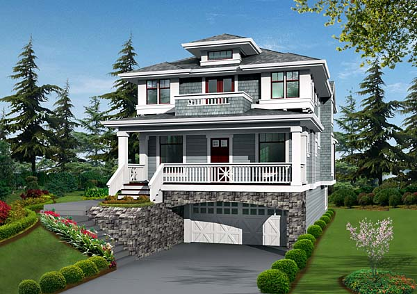 House Plan 87514 with 4 Beds, 4 Baths, 2 Car Garage Elevation