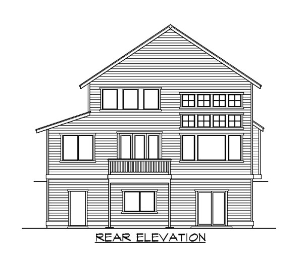 Colonial House Plan 87517 Rear Elevation