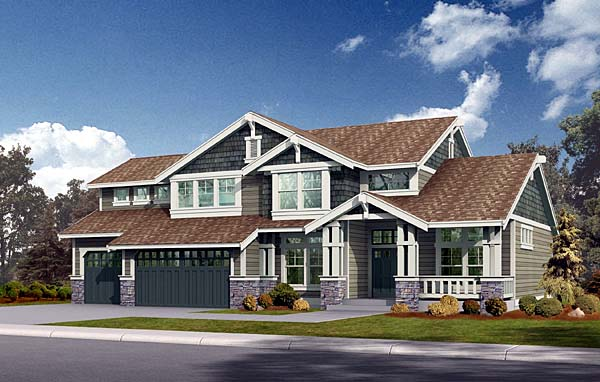 Craftsman House Plan 87520 Elevation