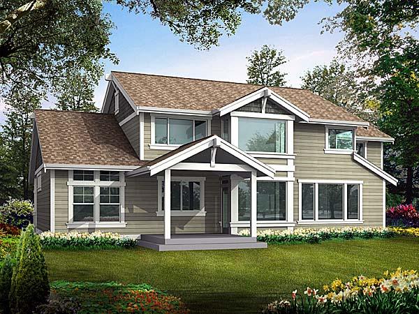 Craftsman House Plan 87520 Rear Elevation