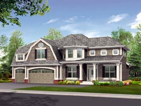 Country House Plan 87522 with 3 Beds, 3 Baths, 3 Car Garage Elevation