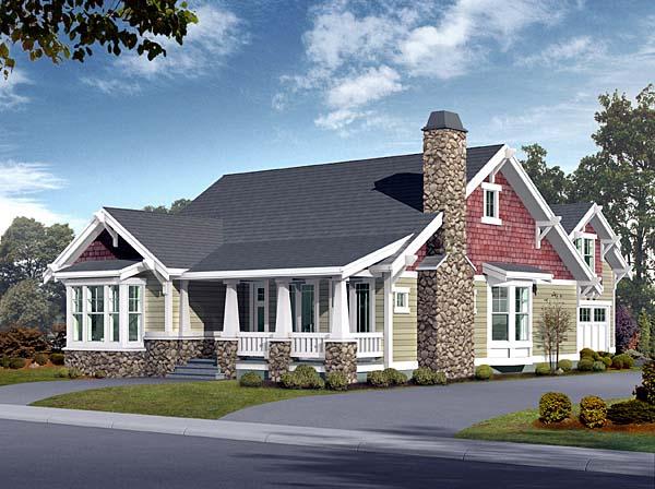 Bungalow, Craftsman House Plan 87523 with 5 Beds, 3 Baths, 2 Car Garage Elevation