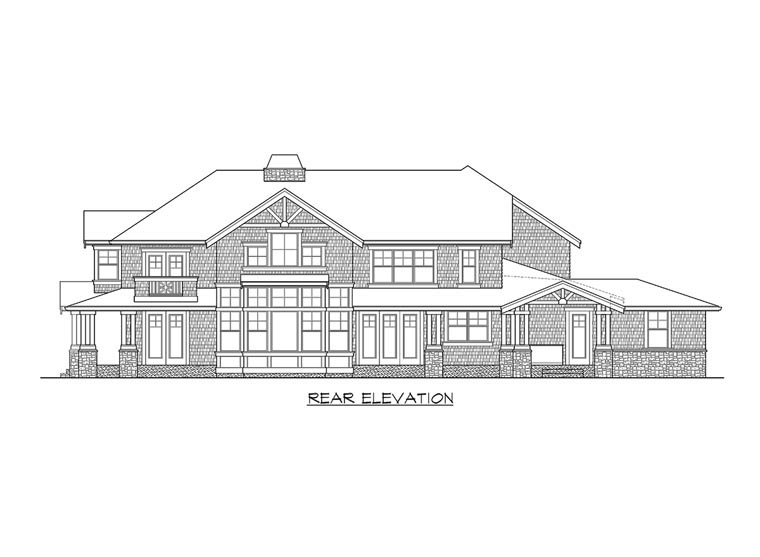 Farmhouse House Plan 87525 Rear Elevation