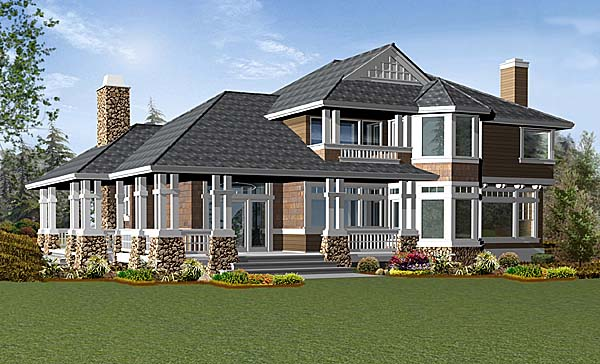Craftsman House Plan 87530 Rear Elevation