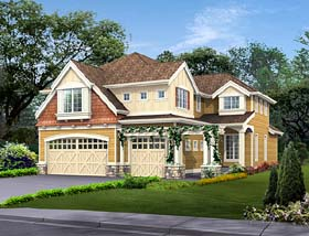 Craftsman , Traditional House Plan 87532 with 4 Beds, 3 Baths, 3 Car Garage Elevation