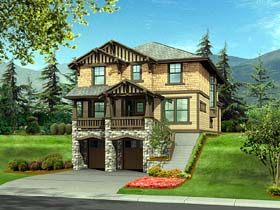 Craftsman House Plan 87535 with 3 Beds, 3 Baths, 2 Car Garage Elevation