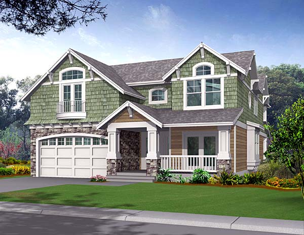House Plan 87538 | Craftsman Style Plan with 2823 Sq Ft, 3 Bedrooms, 3 Bathrooms, 2 Car Garage Elevation