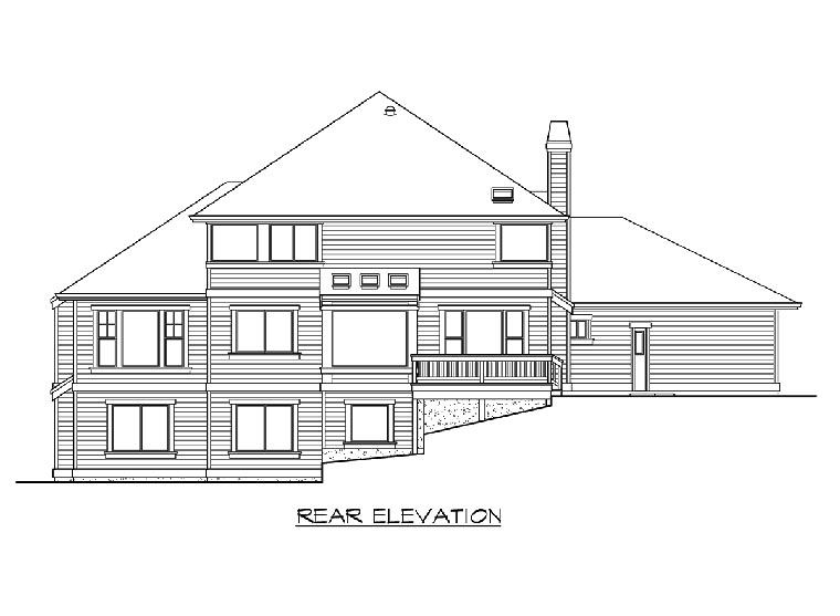 Traditional House Plan 87540 Rear Elevation