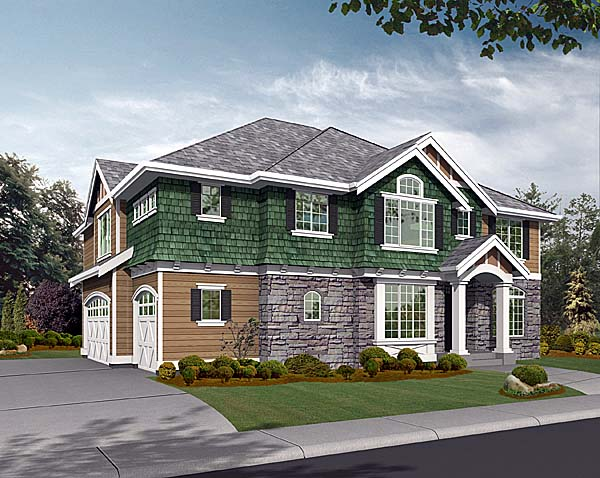Craftsman Traditional House Plan 87542 Elevation