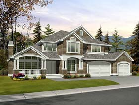 House Plan 87546 Elevation