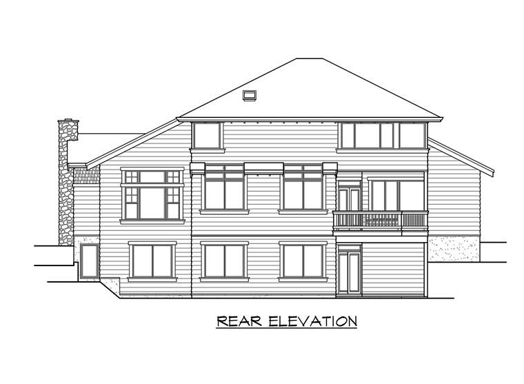 Craftsman House Plan 87547 Rear Elevation