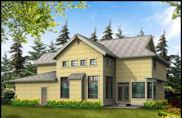 Contemporary Farmhouse House Plan 87550 Rear Elevation