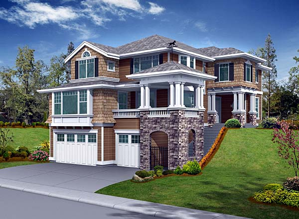 House Plan 87552 | Craftsman Style Plan with 3220 Sq Ft, 3 Bedrooms, 3 Bathrooms, 3 Car Garage Elevation